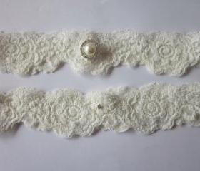 Garter / Garter Set/ Ivory Garter (including toss garter) The Original Simply Chic Garter - Special Offer for Limited Time ONLY 15% Off