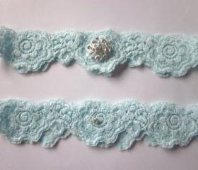 Bridal Garter - Something Blue Garter (including toss garter) The Original Simply Chic Garter - Special Offer for Limited Time ONLY 15% Off