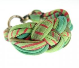 Bracelet Cuff Braided Womens Jewelry Sailor Knot Braid Bangle Green Winter Fashion