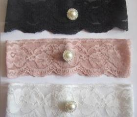 Bridal Garter - Special Offer 20% Off New Lace in 6 Colours - Simply Chic Ivory Garter (SINGLE) - The Original Simply Chic Garter