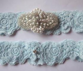 Bridal Garter - Luxury - Simply Chic Something Blue Garter - The Original Simply Chic Garter