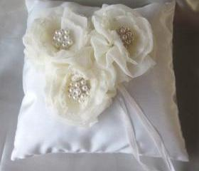 Stardust Wedding Ring Pillow - Ivory (available in all wedding colours) - Special Offer for Limited Time ONLY 15% Off