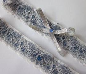 Bridal Garter Set - Betty Something Blue - Special Offer for Limited Time ONLY 15% Off