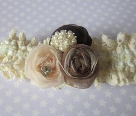Bridal Garter (including toss garter) - Vintage Inspired with a modern twist