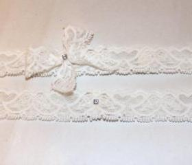 SPECIAL OFFER 50% OFF Bridal Garter Set - Simply Love Birds Lace Garter