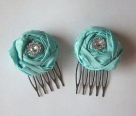 Tiffany Rosebud Bridal Hair Clip