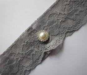Grey Bridal Garter - Special Offer 20% Off - New Lace in 6 Colours - Simply Chic Ivory Garter (SINGLE) - The Original Simply Chic Garter