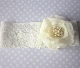 Ivory Garter Set / Wedding Garter including toss Garter - Stardust Bridal Garter (Single Garter) duo garter also available
