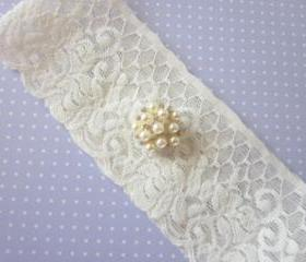 Bridal Garter Set - Simply Chic - Ivory or Champagne