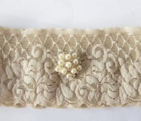 Simply Chic Bridal Garter - Champagne