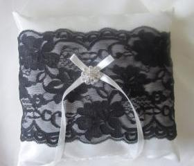 Grace Keepsake - Wedding Ring Pillow - Black