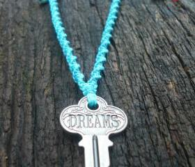 Engraved Key Necklace