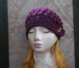 Chunky Raspberry Beanie