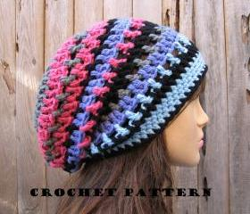  Crochet Hat - Slouchy Hat, Crochet Pattern PDF,Easy, Great for Beginners, Pattern No. 36