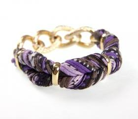 Bangles Fabric Womens Bracelet Bangle Braided Cuff Jewelry Friendship Knot Tribal Infinity Boho Stack Cotton Bracelets Eggplant Purple Brown