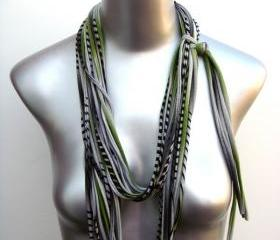 fashion necklace womens summer fall bohemian fabric stripe scarf Spring Scarf Summer Fashion