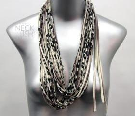 Brown Scarf Fashion Necklace Leopard Print Brown Infinity Scarf Womens Tribal Summer Spring Scarf Summer Fashion