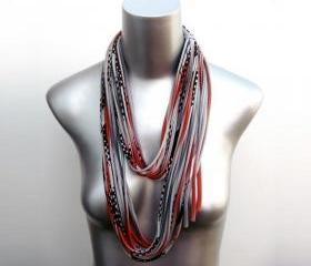 Red Scarf Grey Fashion Necklace Womens Summer Fall Black Spring Scarf Summer Fashion