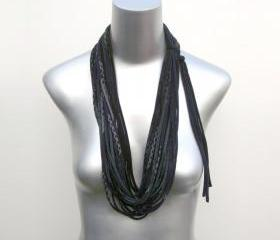 Black Scarf fashion fabric jewelry necklace accessories Summer tribal Spring Scarf Summer Fashion