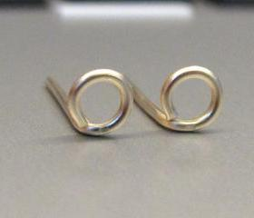 Tiny Circle Post, Tiny Silver Circle Studs Earrings, Gold Circle Earrngs, Circle Stud Earrings