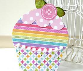 Colorful Cupcake card