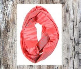 women accessories scarves handmade Coral Loop Scarves Infinity Scarf Spring Scarf Circle Scarf Unique