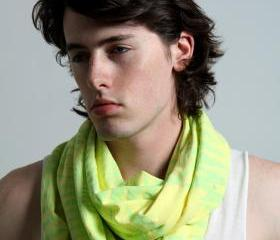 Yellow Scarf Infinity Scarf Winter Mens Fashion Circle Scarf Scarves Womens Tribal Burning Man Scarves Unique