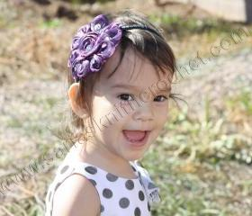 Girls Purple Headband for Toddler Girls Purple Embellishments Purple hairbands