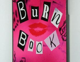 iPhone 5 Funny Mean Girls Burn Book Cover Hard Case
