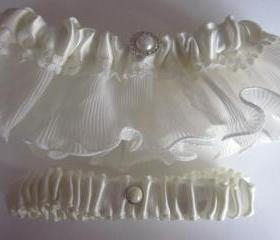 Bridal Garter - NEW 2012 Range - Modern Chic Bridal Garter Set
