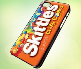 Custom Skittles Candy Wrapper design for iPhone 5 Black Plastic Case - leave message for White Case / iPhone 4 or iPhone 4S Case