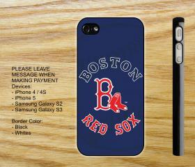 Boston RED SOX Custom iPhone 4 case iPhone 5 case Samsung Galaxy S2 case Samsung S3 case