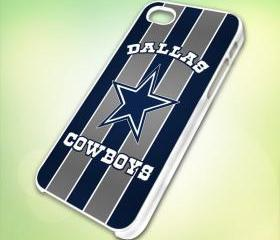 Nfl teams Dallas Cowboys Logo design for iPhone 5 White Plastic Case - leave message for Black Case / iPhone 4 or iPhone 4S Case