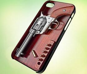 Gun Set box design for iPhone 5 Black Plastic Case - leave message for White Case / iPhone 4 or iPhone 4S Case