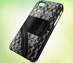 coach handbag Black design for iPhone 5 Black Plastic Case - leave message for White Case / iPhone 4 or iPhone 4S Case