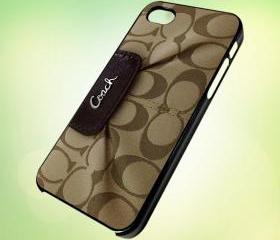 coach handbag design for iPhone 5 Black Plastic Case - leave message for White Case / iPhone 4 or iPhone 4S Case