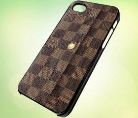 Louis Vuitton Handbag design for iPhone 5 Black Plastic Case - leave message for White Case / iPhone 4 or iPhone 4S Case