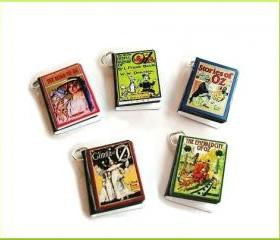 Old Oz Miniature Book Charms Set of 5