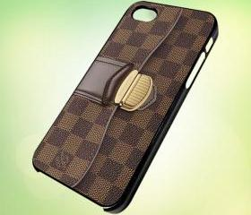 HP024 Louis Vuitton Handbag design for iPhone 5 Black Plastic Case - leave message for White Case / iPhone 4 or iPhone 4S Case
