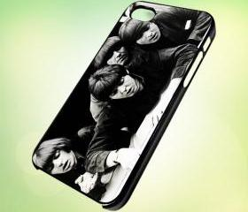 HP025 the beatles band photo design for iPhone 5 Black Plastic Case - leave message for White Case / iPhone 4 or iPhone 4S Case