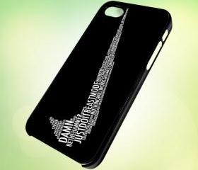 HP026 Nike Quotes design for iPhone 5 Black Plastic Case - leave message for White Case / iPhone 4 or iPhone 4S Case