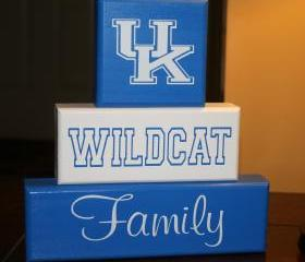 UK Kentucky Wildcat Family Blocks