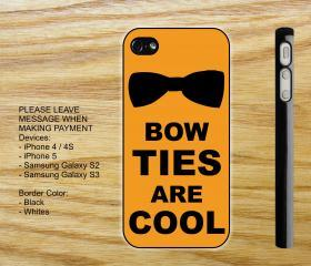 Bow Ties Are Cool Yellow iPhone 4 case iPhone 5 case Samsung Galaxy S2 case Samsung S3 case
