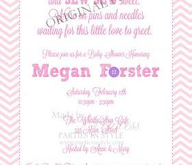 Baby Shower Invitation - Cute as a Button in Pink & Purple - Printable DIY