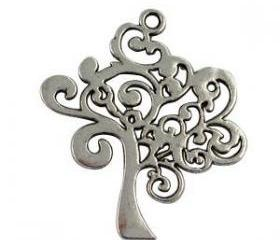 Lot of 10 Pcs Tibetan Silver Tree of Lift Charms
