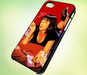 HP031 Pulp Fiction design for iPhone 5 Black Plastic Case - leave message for White Case / iPhone 4 or iPhone 4S Case