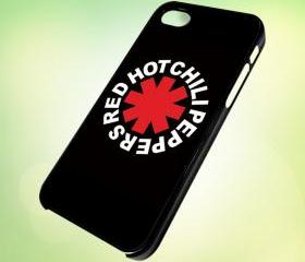 HP033 red hot chili peppers logo design for iPhone 5 Black Plastic Case - leave message for White Case / iPhone 4 or iPhone 4S Case