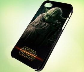 HP034 star wars master yoda characters design for iPhone 5 Black Plastic Case - leave message for White Case / iPhone 4 or iPhone 4S Case