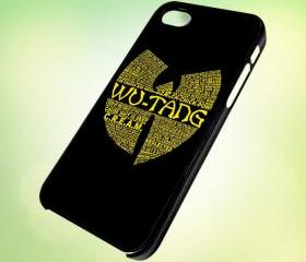 HP037 wu tang quotes design for iPhone 5 Black Plastic Case - leave message for White Case / iPhone 4 or iPhone 4S Case