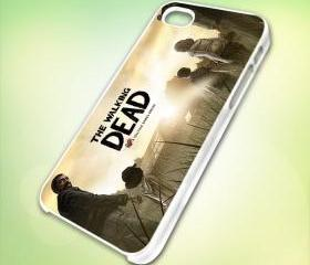 HP039 the walking dead a telltale games series design for iPhone 5 White Plastic Case - leave message for Black Case / iPhone 4 or iPhone 4S Case
